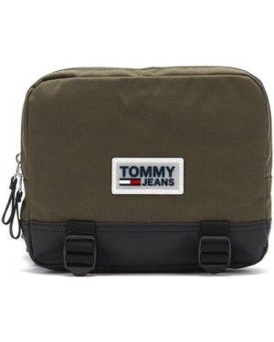 Tommy Hilfiger  Tommy Jeans Urban Varsity Olive Night Body Bag  women's Messenger bag in Green