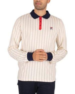 Fila  BB2 Longsleeved Polo Shirt  men's Polo shirt in White