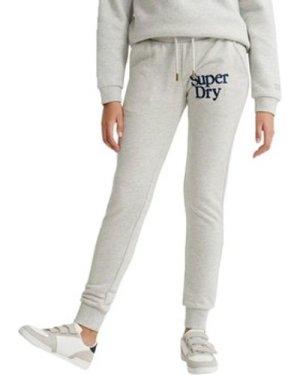 Superdry  Applique Serif Jogger Bottoms  women's Sportswear in Grey