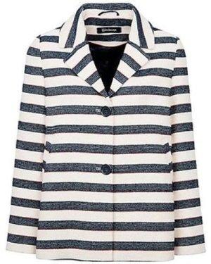 Anastasia  - Stripe Women`s Summer Box Jacket  women's Jacket in Blue