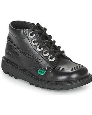 Kickers  KICK HI ZIP  girls's Children's Mid Boots in Black