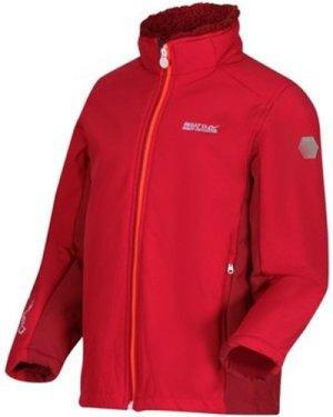 Regatta  Rivendale II Full Zip Softshell Walking Jacket Pink  girls's Children's jacket in Pink