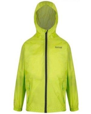 Regatta  Pack It Lightweight Waterproof Hooded Walking Jacket Yellow  girls's Children's coat in Yellow