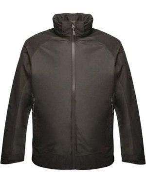 Professional  Ashford II Waterproof Jacket with Concealed Hood Black  men's Jacket in Black