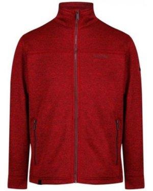 Regatta  Galton Heavyweight Knit Effect Fleece Red  men's Fleece jacket in Red