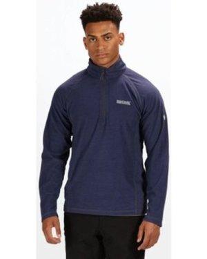 Regatta  Montes Lightweight Half Zip Mini Stripe Fleece Blue  men's Fleece jacket in Blue