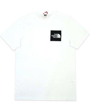 The North Face  M S/S Fine Tee  men's T shirt in White