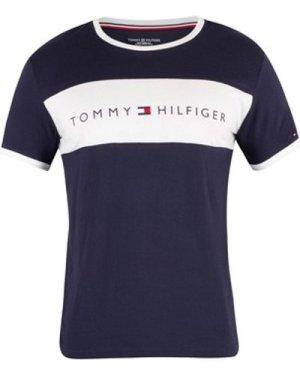 Tommy Hilfiger  Flag Logo T-Shirt  men's T shirt in Blue