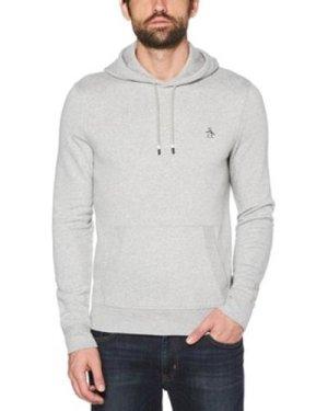 Original Penguin  Sticker Pete Hoodie  men's Sweatshirt in Grey