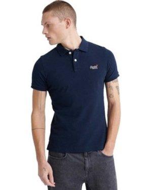 Superdry  Classic Pique Polo Shirt  men's Polo shirt in Blue