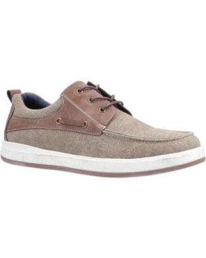 Hush puppies  HPM2000-86-2-6 Aiden  men's Boat Shoes in Kaki