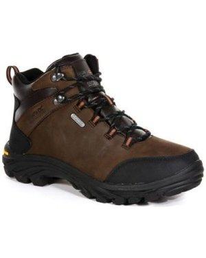 Regatta  Burrell Leather Waterproof Vibram Walking Boots Brown  men's Mid Boots in Brown