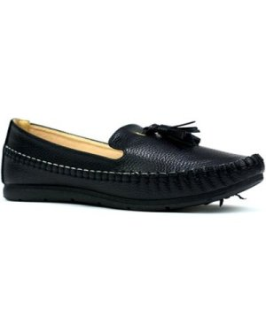 Reveal Love Your Look  Ladies comfort shoe with front tassel  women's Loafers / Casual Shoes in Black