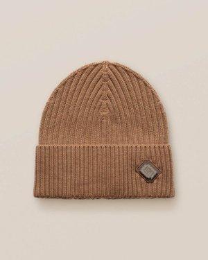 Brown Merino Wool Beanie