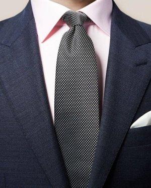 Black Geometric Woven Tie