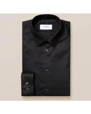 Black Stretch Twill Shirt
