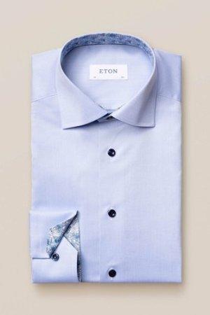 Blue twill shirt – blue details