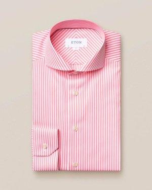 Pink superfine satin shirt