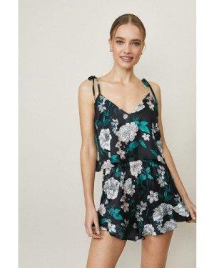 Coast Strappy Cami And Short Pyjama Set -, Black