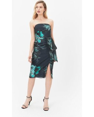 Coast Printed Bandeau Dress With Layered Detail, Multi