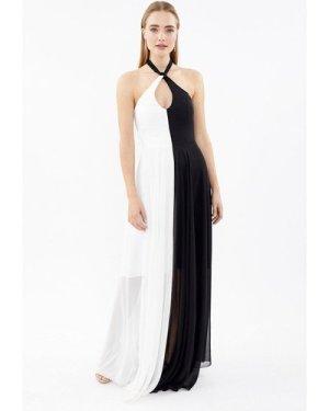 Coast Halterneck Keyhole Maxi Dress -, Mono