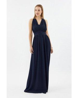Coast Multi Way Sheer Back Maxi Dress -, Navy