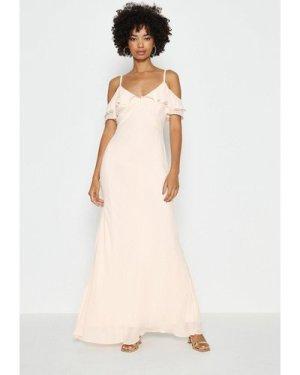 Coast Cold Shoulder Maxi Dress - Light, Pink