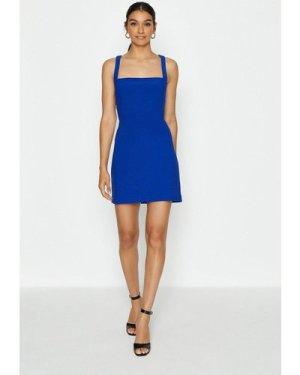 Coast Cross Back Mini Dress -, Blue