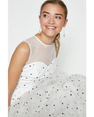 Coast Drop Waist Tiered Embroidered Maxi Dress -, Ivory
