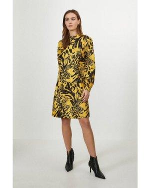 Coast Drop Hem Cutout Back Satin Dress -, Yellow