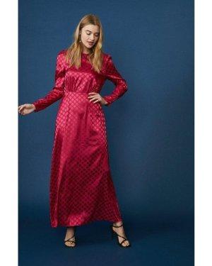 Coast Satin Long Sleeve Maxi Dress -, Pink