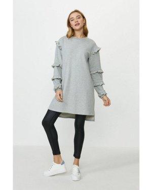 Coast Ruffle Tunic Dress -, Grey Marl