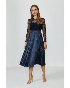 Coast Lace Midi Dress -, Navy