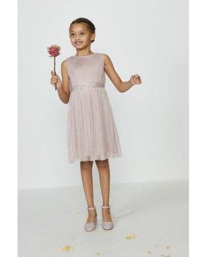 Coast Girls Sequin Waist Bridesmaids Dress -, Pink