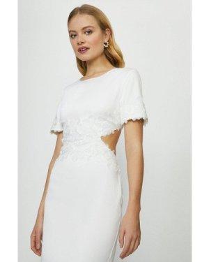 Coast Cut Out Lace Detail Bridal Midi Dress -, Ivory