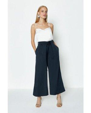 Coast Tie Belt Wide Leg Trousers -, Navy