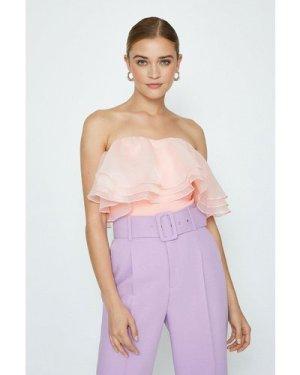 Coast Organza Bardot Top -, Pink