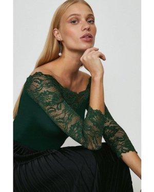 Coast Lace Bardot Body -, Green