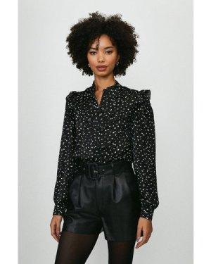 Coast Polka Dot Frill Shirt -, Black