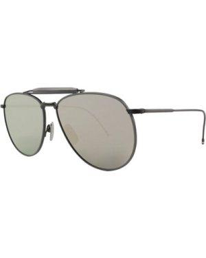 Thom Browne TB015-LTD BLK-GRY Black Iron-Grey/Dark Grey-Silver Mirror