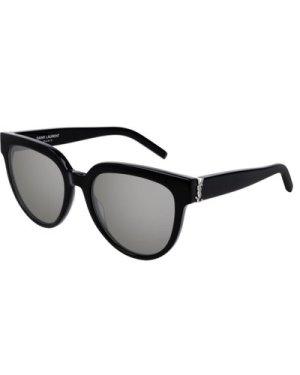 Saint Laurent SL M28 002 Black/Silver Mirror