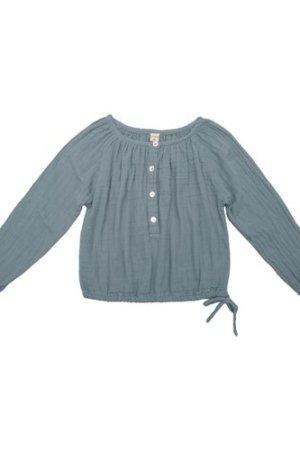 Naia Long Sleeve Blouse Grey blue