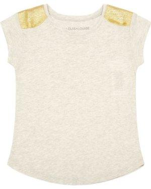 Anais Gold Shoulder T-Shirt