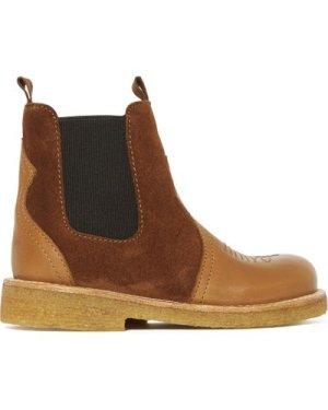 Bi-material Chelsea Boots