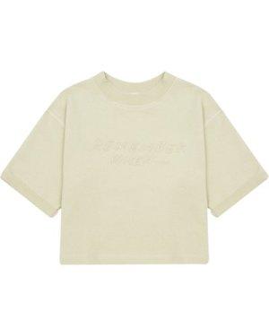 Boxy Embroidered T-shirt 100% Organic Cotton