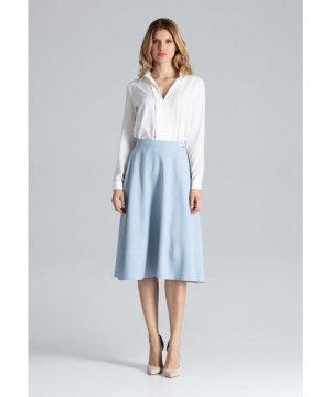Figl Light Blue Flared Skirt