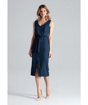 Figl Navy Sleeveless Midi Dress