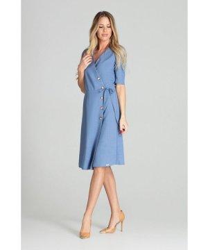 Figl Blue Wrap Midi Dress