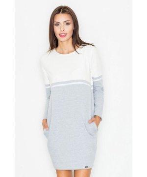 Figl White Casual Cotton Dress
