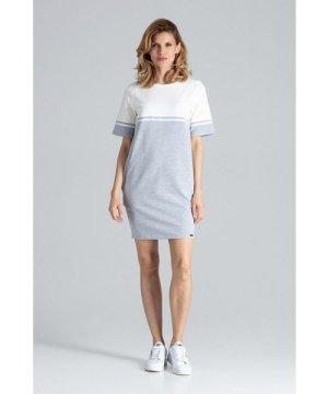 Figl Grey Comfy Cotton Mini Dress